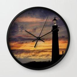 Newport Oregon - Setting Sun Wall Clock