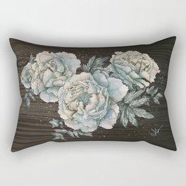 Peony Wood Rectangular Pillow