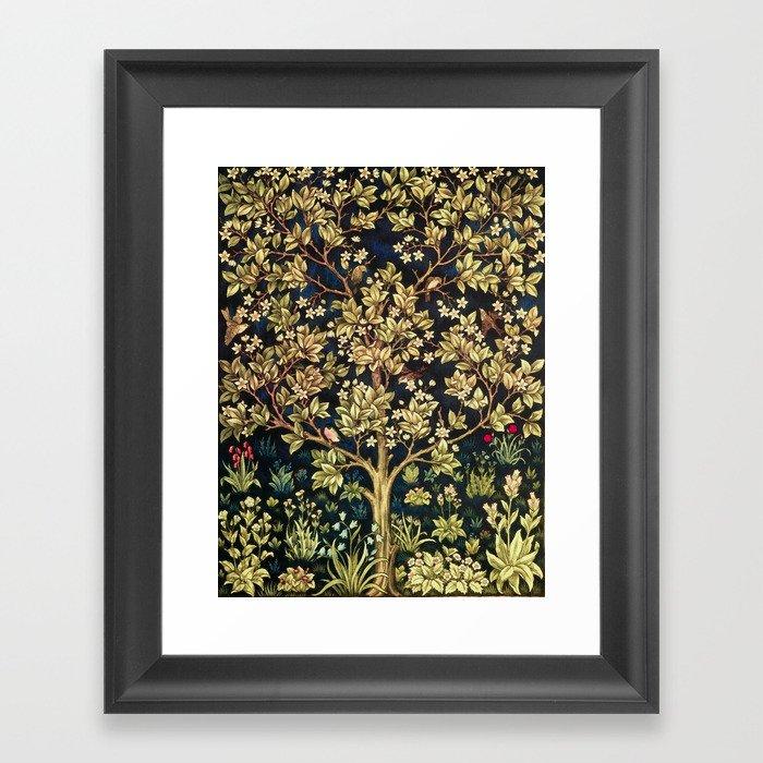 William Morris Tree Of Life Gerahmter Kunstdruck