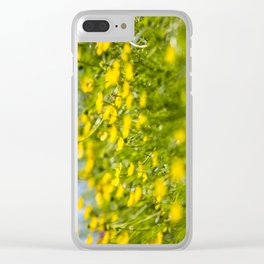 Buttercups in motion Clear iPhone Case
