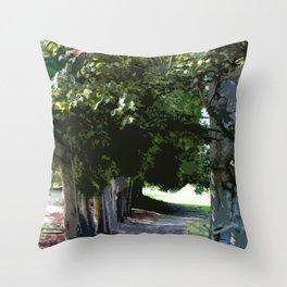 Into the Garden Throw Pillow