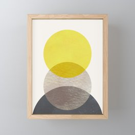SUN MOON EARTH Framed Mini Art Print