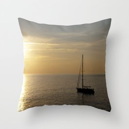 Sailing boat  Throw Pillow