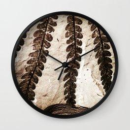 Fern Fossil Wall Clock