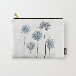 Five Fuzzy Flowers Carry-All Pouch