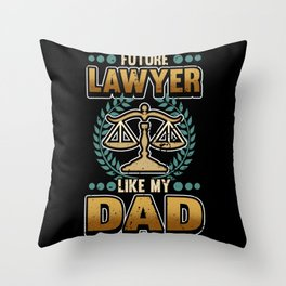 Funny Lawyer Dad Advocate Law Court Gift Throw Pillow