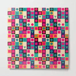Geometric pattern with shapes Metal Print