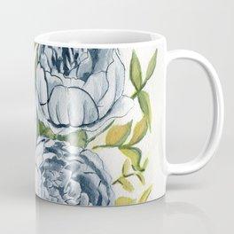 Blue Flowers Watercolor Coffee Mug