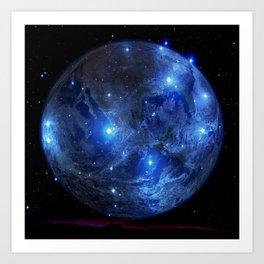 Blue Moon. Art Print