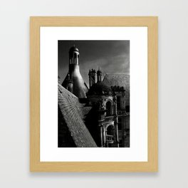 Château de Chambord II - Gothic Architecture Dark Creepy Eerie Scenery Framed Art Print