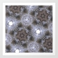 fractal swirls Art Print