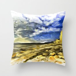 Birling Gap And Seven Sisters Van Goth Throw Pillow