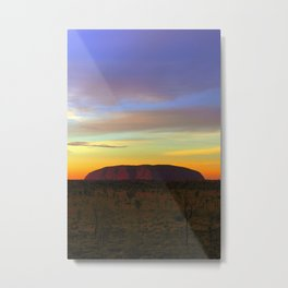Ayers Rock Sunset Metal Print