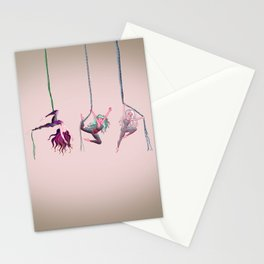 Aerial acrobats Stationery Cards