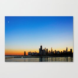 Sunset over Chicago Canvas Print