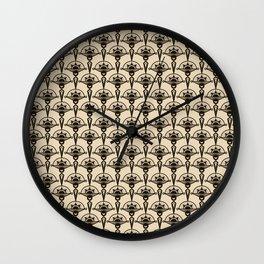 Seamless antique pattern art deco stylish print Wall Clock