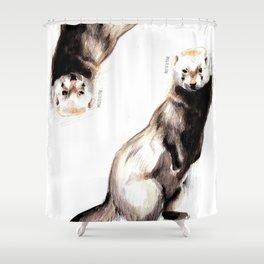 Steppen ferret (Mustela eversmanii) Shower Curtain
