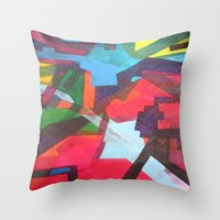 labyrinth Throw Pillows featuring Labyrinth by fieltrovitz