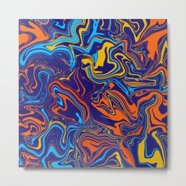 Fire and Ice Color Melt Metal Print