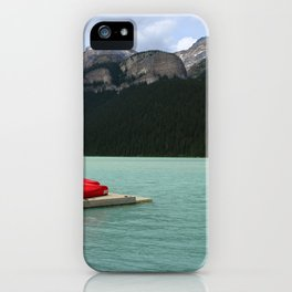 Lake Louise Red Canoes iPhone Case