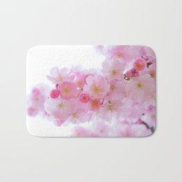 Pink Cherry Blossoms Bath Mat