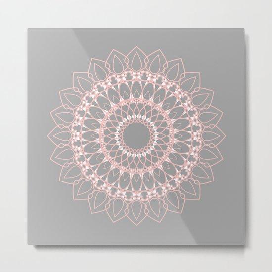 Mandala Rose  Metal Print