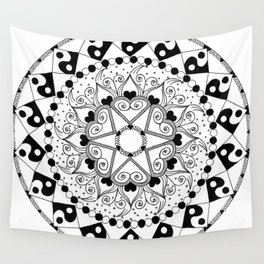 LOVE MANDALA Wall Tapestry