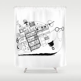 A snail's home Shower Curtain