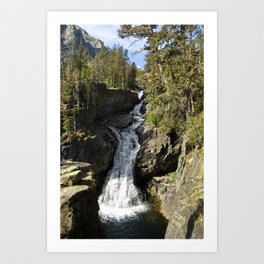 Waterfall - Crazy Mountains, Montana Art Print