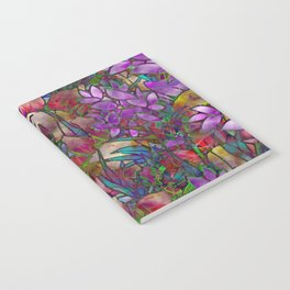 Floral Abstract Stained Glass G175 Notebook