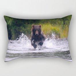 ALASKA V: Fishing in the Rain Rectangular Pillow