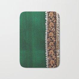 -A11- Tradtional Textile Moroccan Green Artwork. Bath Mat