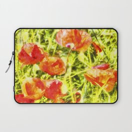 Poppy Watercolour Art Laptop Sleeve