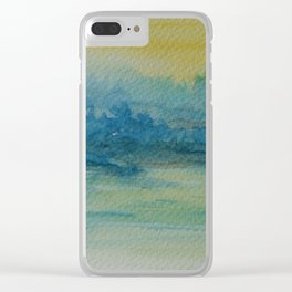 Misty Lake WC151208t-14 Clear iPhone Case