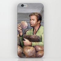 Captain Kirk and Tribbles Sci-Fi Portrait iPhone & iPod Skin