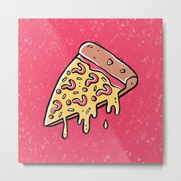 Mysterious Pizza Metal Print