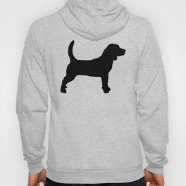 Black Beagle Silhouettes Pattern Hoody