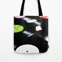 records Tote Bags featuring Vinyl records. by vuuduu