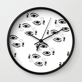 Ancient masks by poppyshome Wall Clock