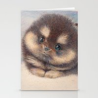 pomeranian Stationery Cards featuring Pomeranian by irshi