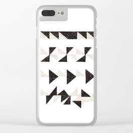 Origami Triangles Clear iPhone Case