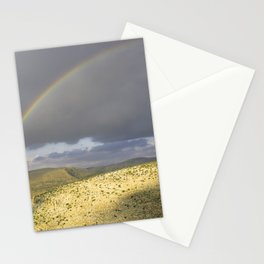 """If you want the RAINBOW you've got to deal with the rain"" Stationery Cards"