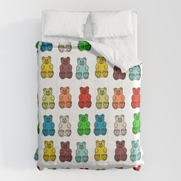 Cute Gummy Bear Candy Collage Comforters