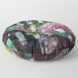 Portrait of the Universe (Rolling Dice) abstract painting by Scott Richard Floor Pillow