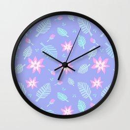 Tropics Print 3 Wall Clock