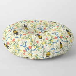 Bee Garden - Cream Floor Pillow