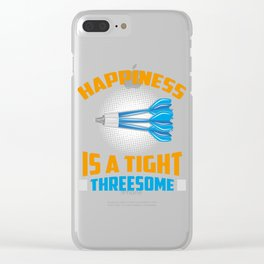 Happiness Is A Tight Threesome Dart Fun Gift Clear iPhone Case
