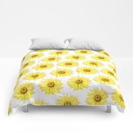 Sunflowers On White Comforters