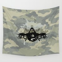 pilot Wall Tapestries featuring War Pilot by MaNia Creations