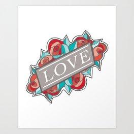 Love & Roses Art Print